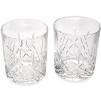 Pair Of Classic Cut Glass Whiskey Tumblers - A4062