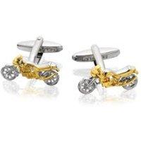 Two Tone Motorbike Cufflinks - A4544