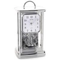 Rhythm Silver Tone Mantel Clock - C1714