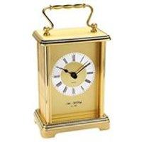 Widdop Brass Effect Carriage Clock - C1787