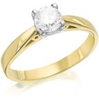 18ct Gold Diamond Solitaire Ring - 70pts - Certificated - D0117-N
