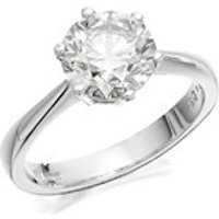 Platinum 2 Carat Diamond Solitaire Ring - Certificated - D0828-P