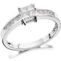 18ct White Gold Princess Cut Diamond Ring - 1/2ct - EXCLUSIVE - D1349-O