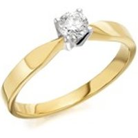9ct Gold Diamond Solitaire Ring - 1/4ct - AGI Certificated - D5008-J