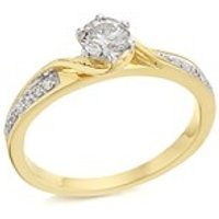 9ct Gold Diamond Ring - 1/2ct - D5117-L