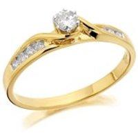 9ct Gold Diamond Twist Ring - 30pts - EXCLUSIVE - D5208-L