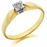9ct Gold Diamond Ring - 6pts - D5221-L