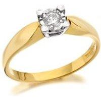 9ct Gold Diamond Ring - 15pts - D5325-M