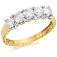 9ct Gold 1 Carat Five Stone Diamond Ring - D5809-S