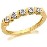 9ct Gold Five Stone Diamond Swirl Ring - 5pts - D5817-O