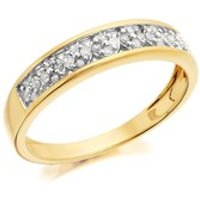 9ct Gold Diamond Band Ring - 14pts - EXCLUSIVE - D6017-N