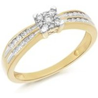9ct Gold Diamond Ring - 1/4ct - EXCLUSIVE - D6033-O