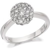 9ct White Gold Diamond Cluster Ring - 1/2ct - D6312-L