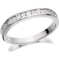 9ct White Gold Diamond Half Eternity Ring - 1/2ct - D6313-K