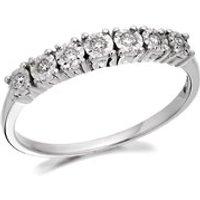 9ct White Gold Diamond Half Eternity Ring - 7pts - D6329-J