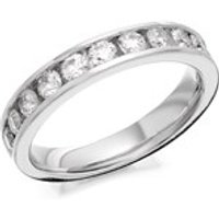 9ct White Gold 1 Carat Diamond Half Eternity Ring - AGI Certificated - D6694-O