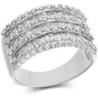 9ct White Gold 1 Carat Diamond Band Ring - D6831-P
