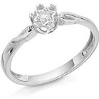 9ct White Gold Single Stone Diamond Ring - 5pts - D6865-O
