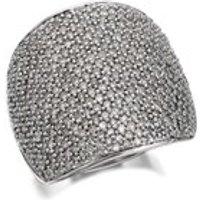 9ct White Gold 2 Carat Pave Set Diamond Band Ring - D6872-M