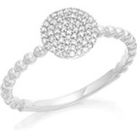 9ct White Gold Diamond Cluster Ring - 15pts - D71143-O