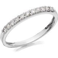 9ct White Gold Diamond Half Eternity Ring - 1/4ct - D72112-N