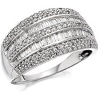 9ct White Gold 1 Carat Diamond Band Ring - D7220-J