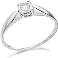 9ct White Gold Diamond Ring - 15pts - D7232-N