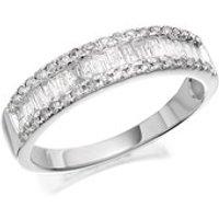 9ct White Gold Diamond Band Ring - 1/2ct - D7288-P