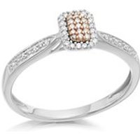 9ct Gold Two Colour One In A Million Pink Diamond Cluster Ring - 10pts - D7879-R
