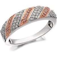 9ct Gold Two Colour One In A Million Pink Diamond Band Ring - 1/4ct - D7882-S