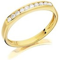 9ct Gold Diamond Half Eternity Ring - 20pts - D8002-N