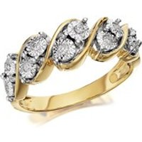 9ct Gold Diamond Five Row Band Ring - 8pts - EXCLUSIVE - D8013-J