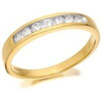 9ct Gold Diamond Half Eternity Ring - 1/4ct - D8019-O