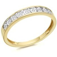9ct Gold Diamond Half Eternity Ring - 4pts - D8031-O