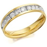 9ct Gold Diamond Half Eternity Ring - 1/2ct - D8034-J
