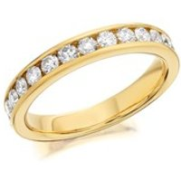 9ct Gold Diamond Half Eternity Ring - 3/4ct - AGI Certificated - D8064-N