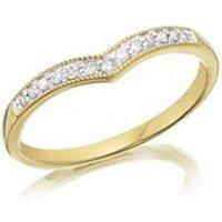 9ct Gold Diamond Wishbone Ring - 8pts - D8069-K