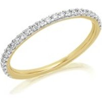 9ct Gold Diamond Half Eternity Ring - 1/4ct - AGI Certificated - D8079-S