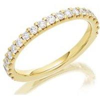 9ct Gold Diamond Half Eternity Ring - 1/2ct - AGI Certificated - D8082-S