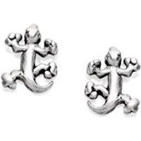 Silver Gecko Stud Earrings - 7mm - F0108