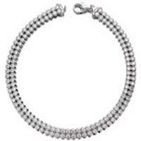 Silver Cubic Zirconia Double Row Tennis Bracelet - 7.5in - F1424