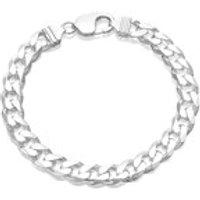 Silver 9mm Wide Curb Bracelet - 8in - F1640