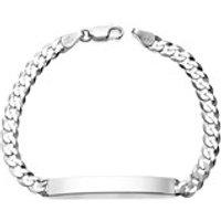 Silver Curb Identity Bracelet - 7.5in - F2311