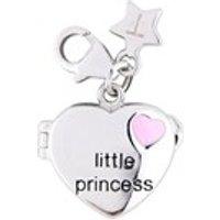 Tingle SCH188 Silver Enamel Little Princess Locket Charm - F8168