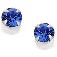 Silver Blue Crystal Andralok Earrings - 3mm - F9908