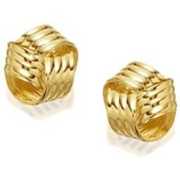 9ct Gold Knot Stud Earrings - 8mm - G0139