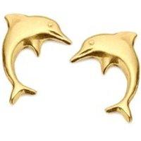 9ct Gold Mini Dolphin Stud Earrings - 10mm - G0148