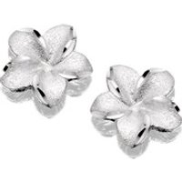 9ct White Gold Flower Stud Earrings - 10mm - EXCLUSIVE - G0443