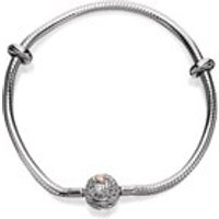 Clogau Silver And 9ct Rose Gold Tree Of Life Milestones Bracelet - 19cm - G4406