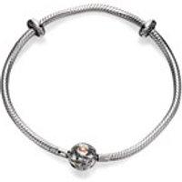 Clogau Silver And 9ct Rose Gold Calon Lan Milestones Bracelet - 19cm - G4417